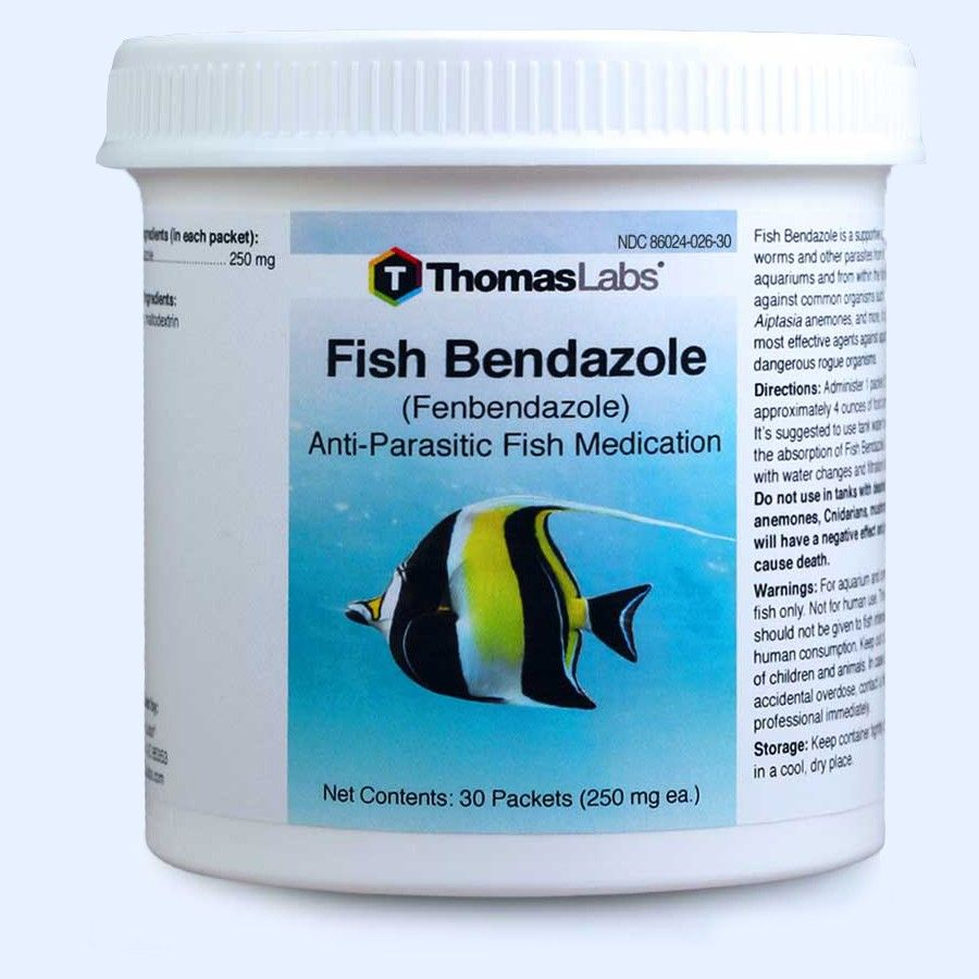 Fish Bendazole Powder Packets - Fenbendazole 250 Mg (30 Count)