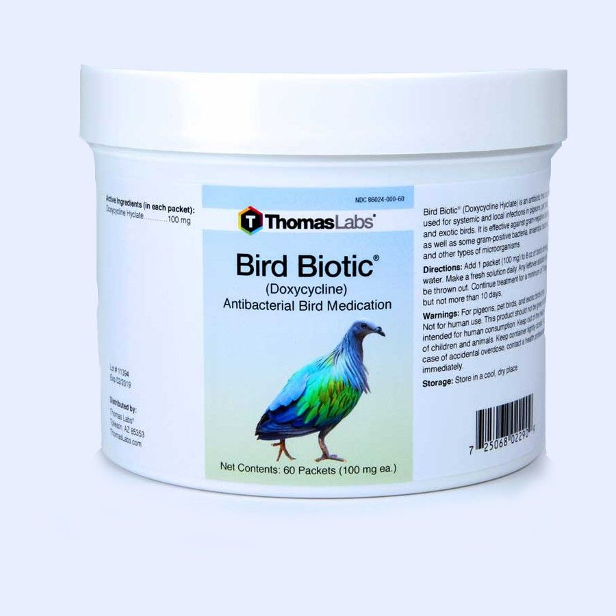 Bird Biotic - Doxycycline 100 Mg (60 Count Packets)