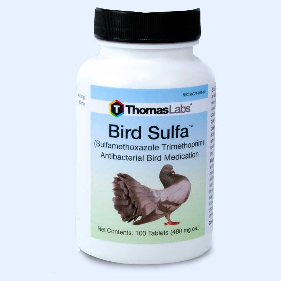 Bird Sulfa Tablets - 100 Count (Sulfamethoxazole 400 mg)