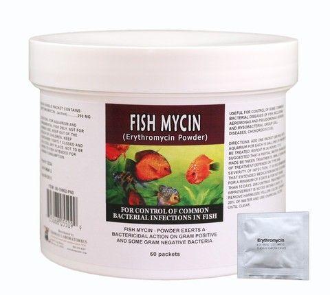 Fish Mycin Powder Packets - Erythromycin 250Mg (60 Count)