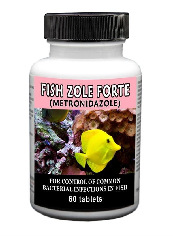 Fish Zole Forte - Metronidazole 500 Mg (60 Count Tablets)