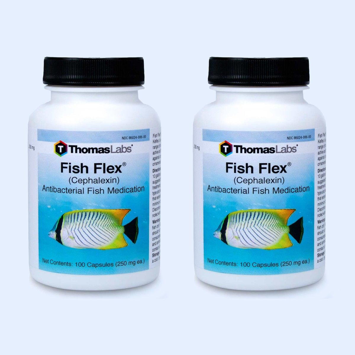 Fish Flex Capsules - 100 Count (Cephalexin 250 Mg) - 2 Pack