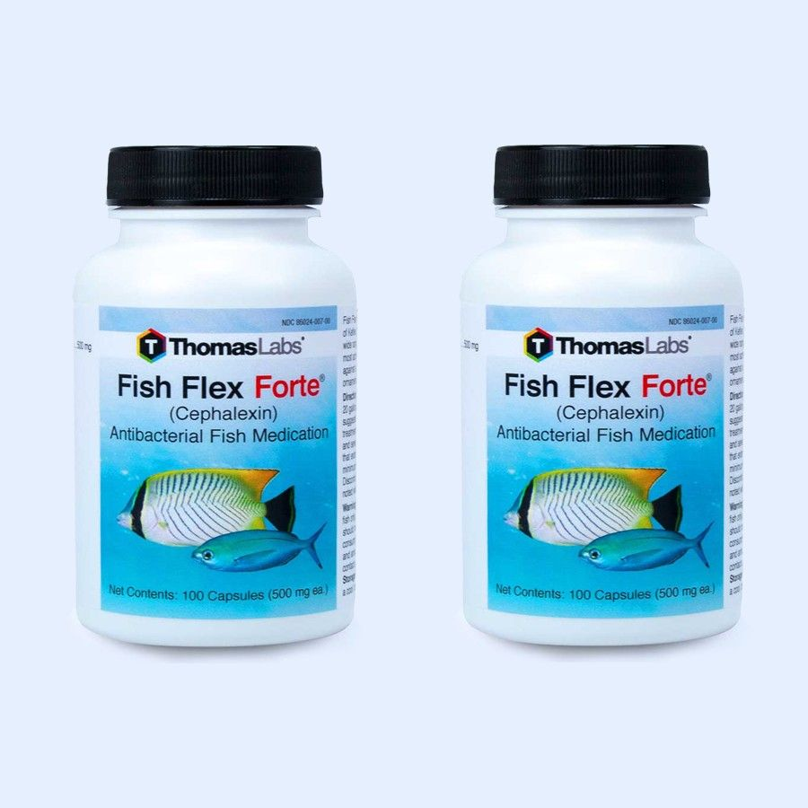 2 - Pack Of Fish Flex Forte - Cephalexin/Keflex 500 Mg (100 Count)