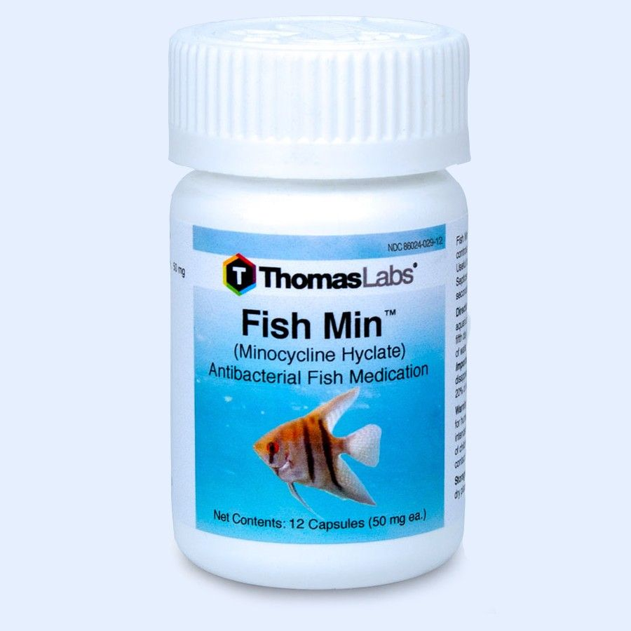 Fish Min - Minocycline 50 mg Capsules (12 Count)