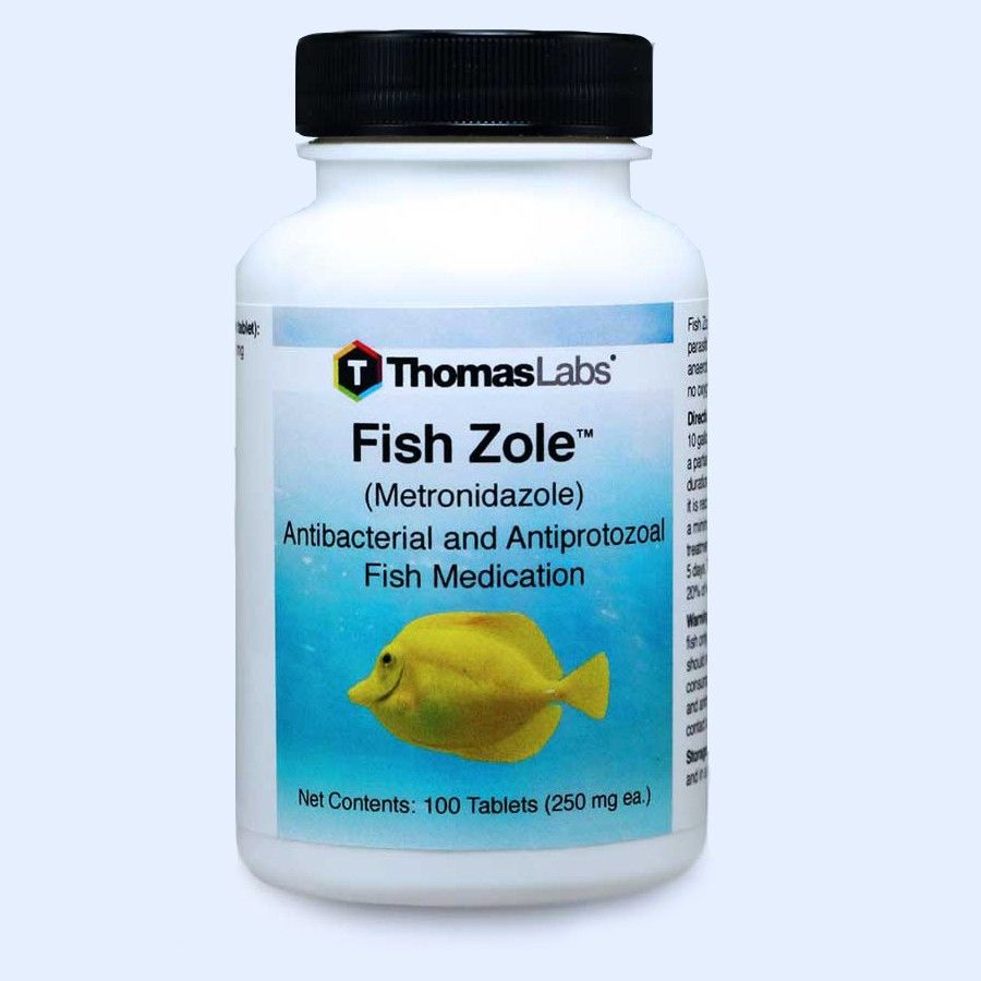 Fish Zole Tablets - 100 Count (Metronidazole 250 mg)