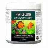 Fish Cycline Powder Packets 12 Count - Tetracycline 250 Mg Powder Packets